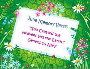 June Memory Verse 1