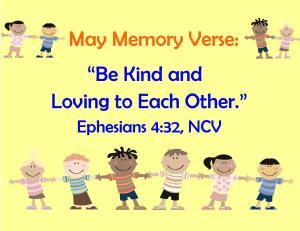May Memory Verse