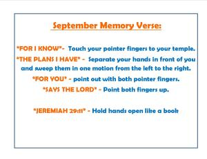 September Memory Verse Motions