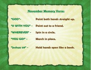 November Memory Verse Motions - Blog