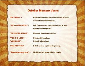 October Memory Verse Motions - Blog