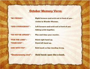 October Memory Verse Motions - Blog
