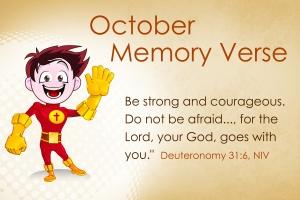 October Memory Verse
