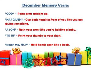 December Memory Verse Motions - Blog