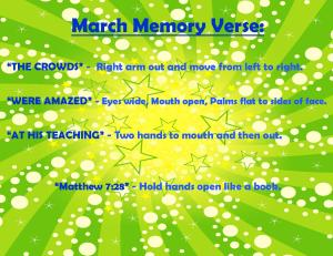 March Memory Verse Motions - bLOG