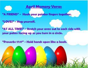 April Memory Verse Motions - Blog