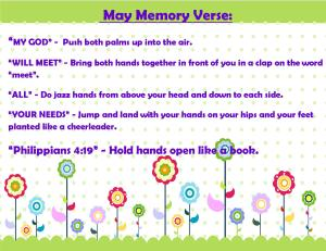 May Memory Verse Motions 2014 - Blog