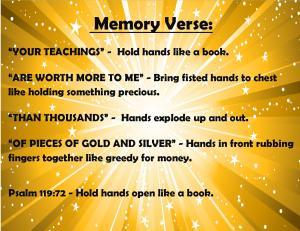 June Memory Verse Motions 2014 - Blog