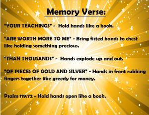 June Memory Verse Motions 2014 - Blog