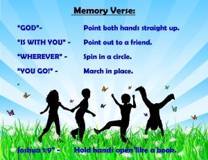 August 2014 Memory Verse Motions - Blog
